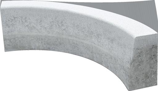 Curva sagomata concava r. 150